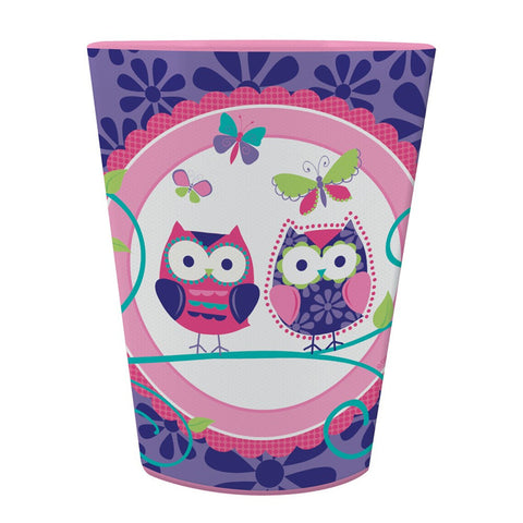 16 Oz Plastic Keepsake Cup Owl Pal Birthday/Case of 12