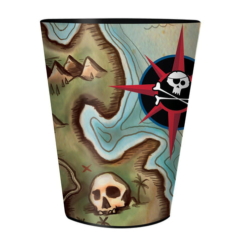 Pirates Map 16 Oz Plastic Keepsake Cup/Case of 12