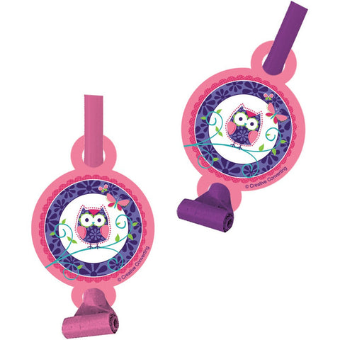 Owl Pal Birthday Blowouts with Medallion/Case of 48