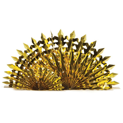 Glitz Gold Hanging Foil Fan/Case of 12