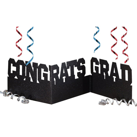 Congrats Grad Glitter Accordion Centerpiece/Case of 12
