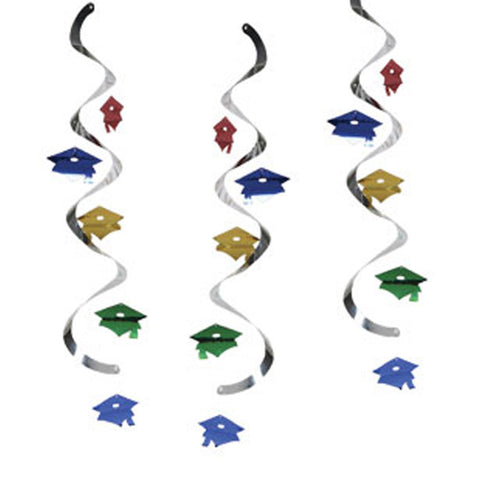 Assorted Color Mortarboards Dizzy Danglers/Case of 30