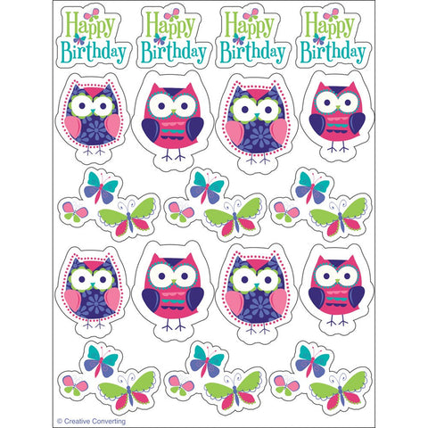 Owl Pal Birthday Value Stickers/Case of 48
