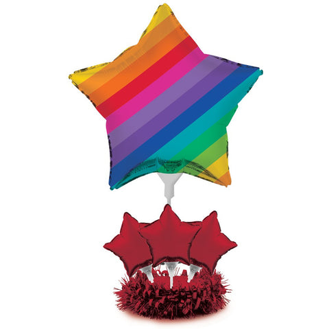 Rainbow Air Filled Balloon Centerpiece Kit/Case of 4