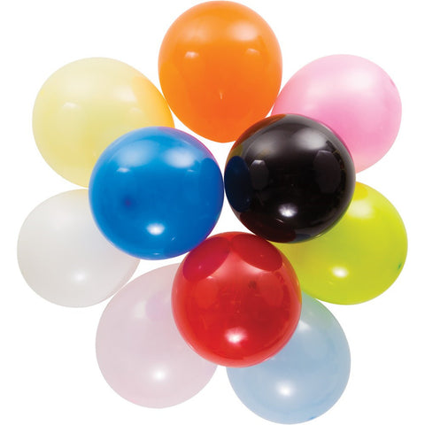 12 inch Solid Latex Balloons Assorted Colors Assorted Colors/Case of 180