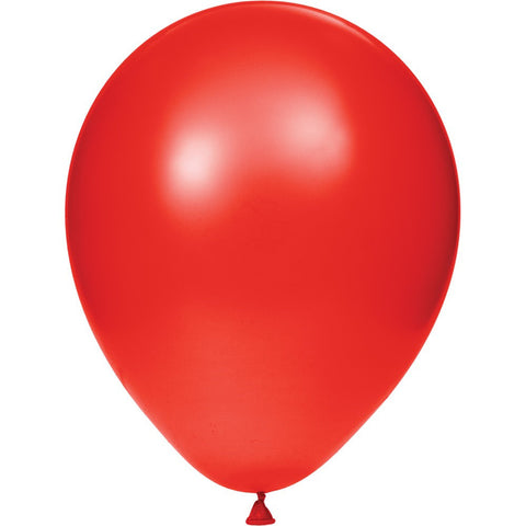 12 inch Solid Latex Balloons Classic Red Classic Red/Case of 180