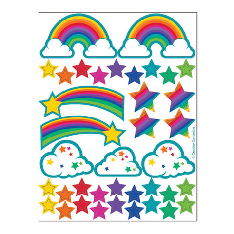Rainbow Glitter Stickers/Case of 24
