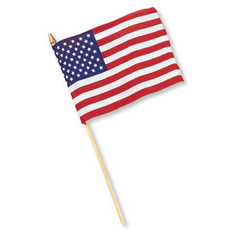 8 x 12 Cloth Flag United States/Case of 36