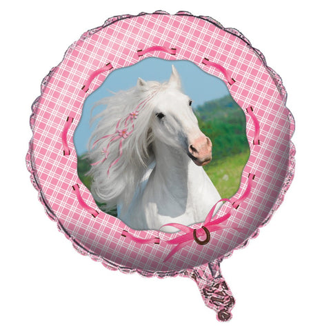 Heart My Horse Metallic Balloon Happy Birthday/Case of 10