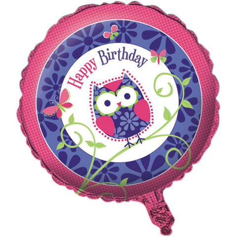 Owl Pal Birthday Metallic Balloon/Case of 10