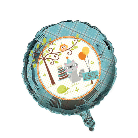 Happi Woodland Boy 18 inch Round Metallic Balloon/Case of 10