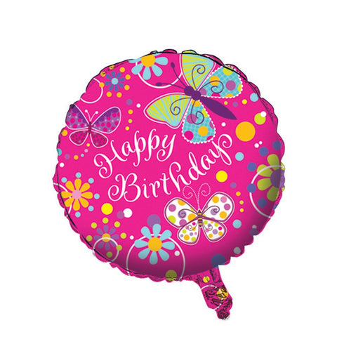 18 inch Butterfly Sparkle Metallic Balloon/Case of 10