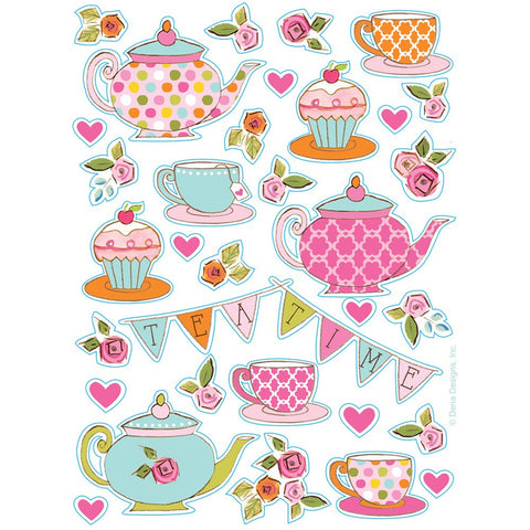 Tea Time Value Stickers/Case of 48