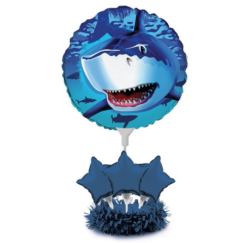 Air Filled Balloon Centerpiece Kit Shark Splash/Case of 4