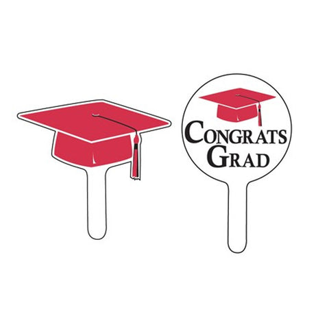Classic Red Mortarboard Cupcake Picks/Case of 288