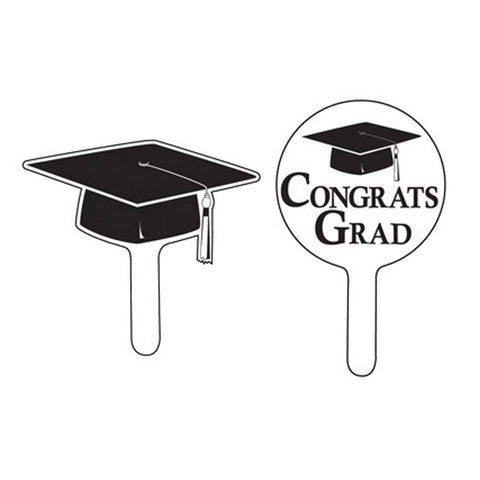 Black Velvet Mortarboard Cupcake Picks/Case of 288