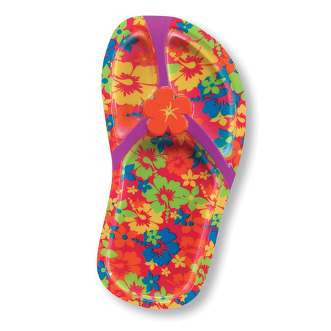 11 inch Flip Flops Plastic Divided Tray/Case of 12