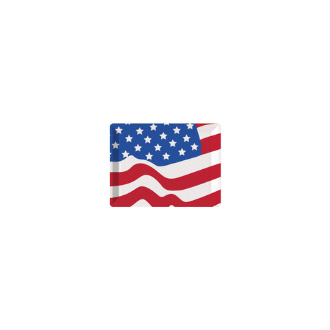 10 x 14 Flag Plastic Tray/Case of 12