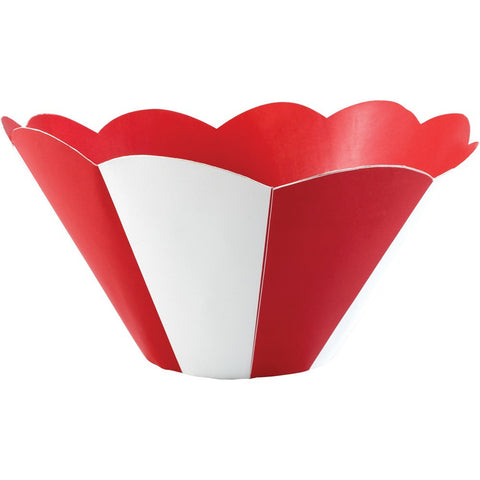 Big Top Birthday Large Stripes Paper Bowl/Case of 12