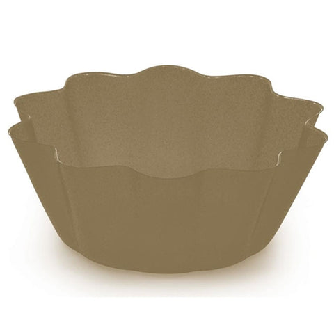 Glitz Gold  8 Inch Plastic Fluted Bowl/Case of 12