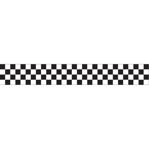 30 Feet Black & White Check Crepe Streamer/Case of 12