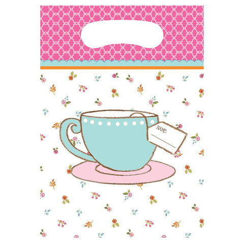 Tea Time Plastic Loot Bags/Case of 96