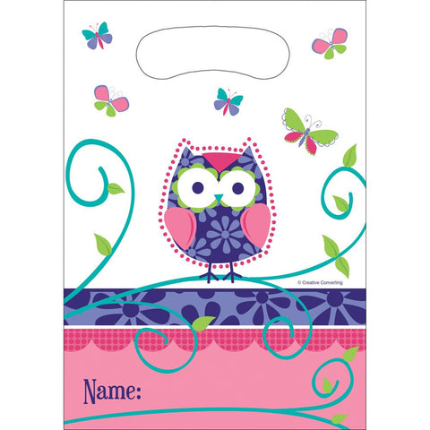 Owl Pal Birthday Plastic Loot Bags/Case of 96