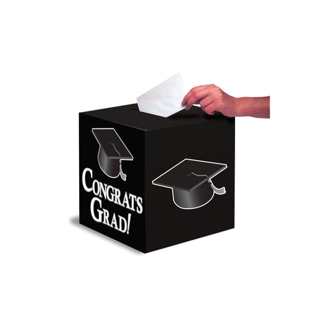 Black Congrats Grad Card Box/Case of 6