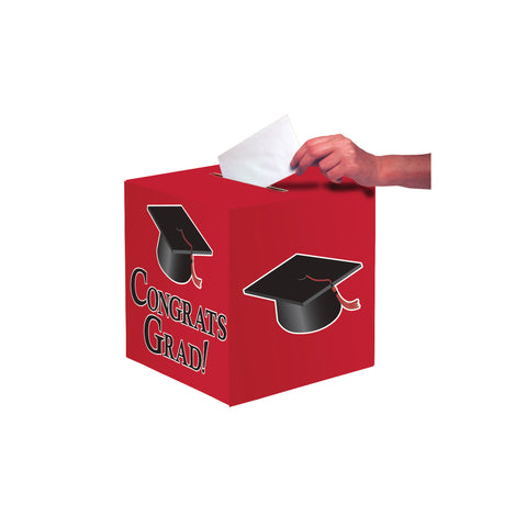 Red Congrats Grad Card Box/Case of 6
