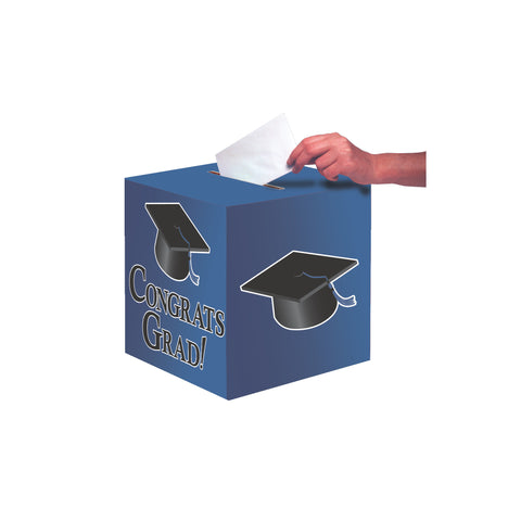 Cobalt Congrats Grad Card Box/Case of 6