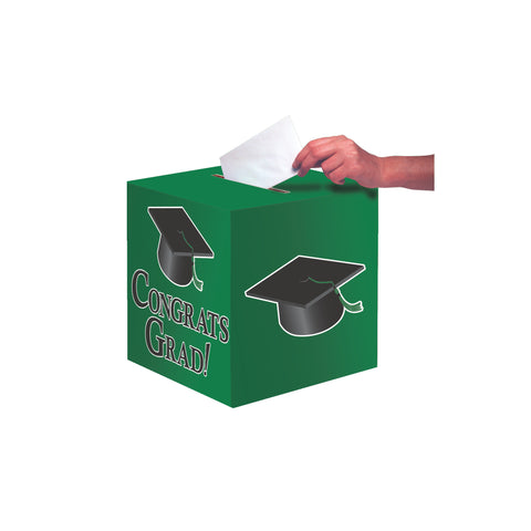 Em Green Congrats Grad Card Box/Case of 6