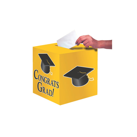 Yellow Congrats Grad Card Box/Case of 6