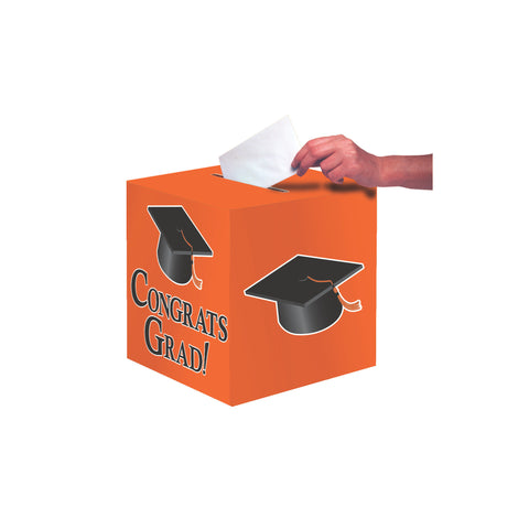 Orange Congrats Grad Card Box/Case of 6