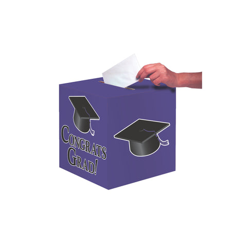 Purple Congrats Grad Card Box/Case of 6