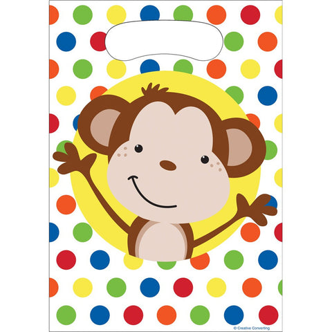 Plastic Loot Bags Fun Monkey/Case of 96
