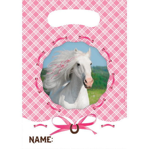 Heart My Horse Plastic Loot Bags/Case of 96