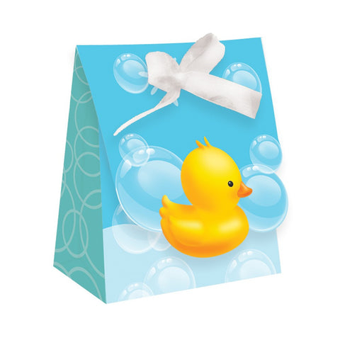 Bubble Bath Diecut Favor Bags with Ribbon/Case of 72