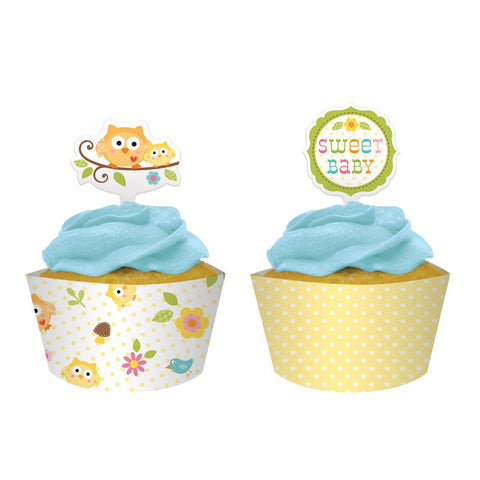 Happi Tree Cupcake Wrappers with Picks/Case of 144