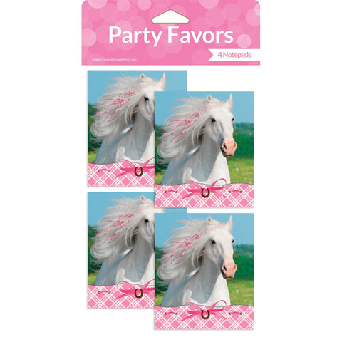 Heart My Horse Favors Notepad with Stickers/Case of 24