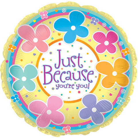 "17"" Just Because You're You Foil Balloon/Case of 5"