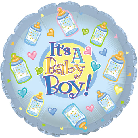 "17"" Baby Boy Bottles Foil Balloon/Case of 5"