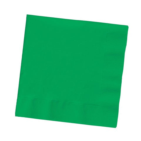 2 Ply Lunch Napkins Emerald Green/Case of 600