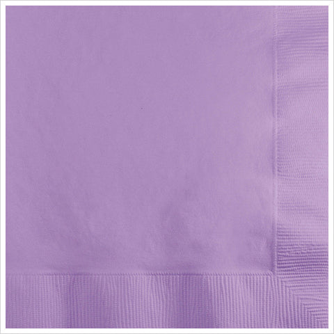 2 Ply Beverage Napkins Luscious Lavender/Case of 600