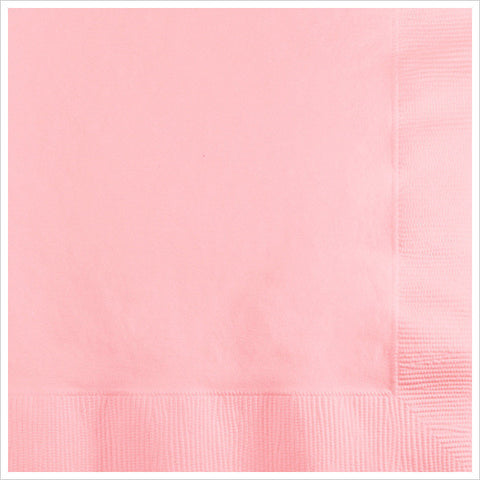 2 Ply Beverage Napkins Classic Pink/Case of 600