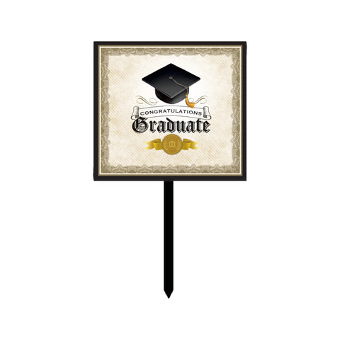 Cap & Gown Yard Sign/Case of 6