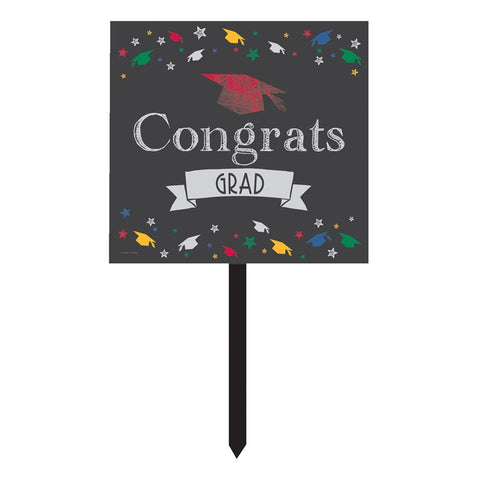 Chalk It Up Grad Plastic Yard Sign/Case of 6