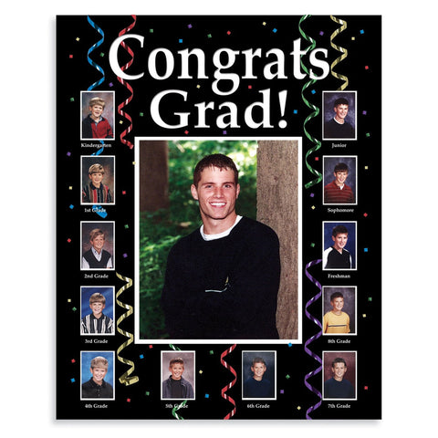 Grad Thru the Years Personalized Photo Frame/Case of 6