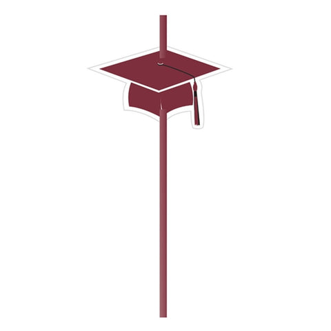 Grad Burgundy Straws with Attachment/Case of 72