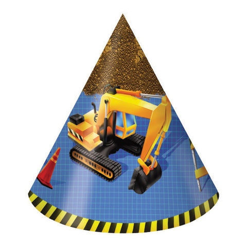 Under Construction Child Size Party Hats/Case of 48