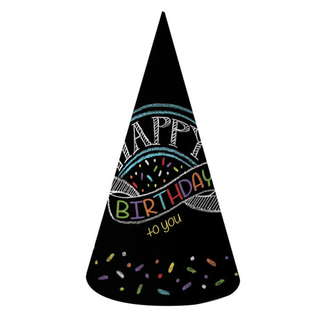 Chalk Birthday Paper Party Hats Adult Size/Case of 48